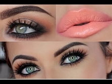 Peach & Bronze Look