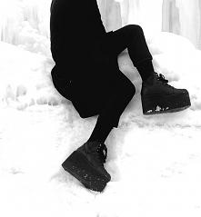 buty platformy czarne