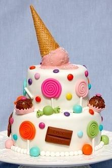 Cukierkowy torcik :)