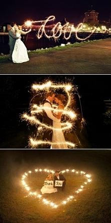 Zimne ognie na fotografii ślubnej