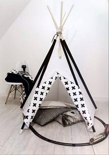 Tipi namiot do pokoju dziecięcego black&white