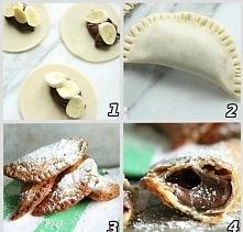 Składniki 1 opakowanie ciasta francuskiego 0,5 małego słoiczka nutelli 1 duży...