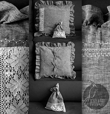 Poduszka wykonana z szarej, bardzo miękkiej w dotyku bawełny. Na przodzie wst...