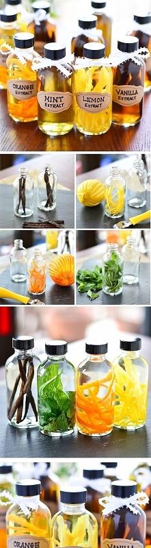 fajny pomysł na prezent - wanilię, skórkę z pomarańczy, cytryny lub mięte zal...