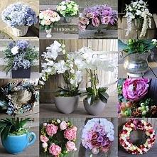 dekoracje ze sztucznych kwiatów od tendom.pl