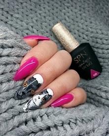 Coś dla osób sfiksowanych na punkcie kotów :-)  LAkier hybrydowy SPN Nails UvLaq 626 Back to Fushia  Nails by Roksana_nails