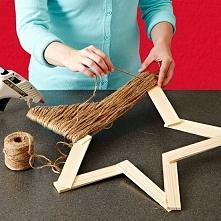 Gwiazda w stylu rustykalnym DIY