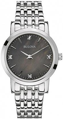 zegarek damski z prawdziwymi diamentami, perłowa tarcza, srebrna bransoleta
