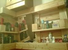 półka dlo łazienki z palety