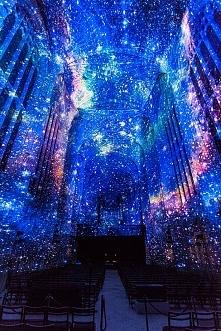 Pokaz galaktyczny na sklepieniu XVI-wiecznej gotyckiej kaplicy :)