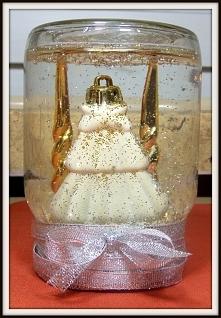 Śnieżna kula vel śnieżny słoik zrobiony w domu :) Kliknij w zdjęcie po szczegóły!
