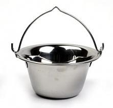 Kociołek węgierski ze stali szlachetnej o pojemności 14 litrów