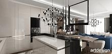 LOOK #33 | Projekt wnętrz apartamentu - otwarta kuchnia w apartamencie
