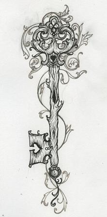 #wzory na tatuaż #klucz