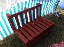 ławeczka ogrodowa z palet