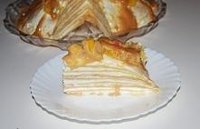 tort naleśnikowy z kajmakiem