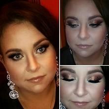 Propozycja makijażu sylwestrowego z użyciem brokatu :)