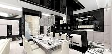 LOOK #69 | luksusowe wnętrze apartamentu - jadalnia, otwarta kuchnia