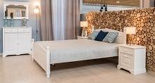 Biała sypialnia - urzekająca kolekcja sosnowych mebli Pisa. Dostępne na: mmisleeping.pl