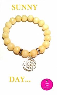 Sunny day - bransoletka z żółtego jadeitu ze srebrem 925