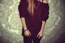 Świetny burgundowy sweterek, idealny na jesień *.*