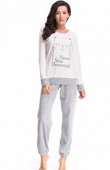 Dobranocka PW.8071 piżama Ciepła dwuczęściowa piżama, wykonana z przyjemnego ...