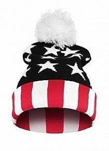 Czapka BEANIE -flaga USA