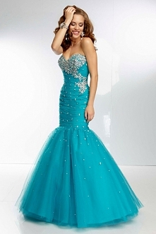 Mermaid Beading Floor Length Ruffled Prom Dress