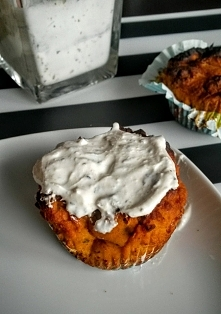 Bezglutenowe i wytrawne muffiny dyniowe, idealne na imprezę lub do pracy jako lunch.
