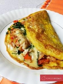 Wypasiony omlet! :) Mega sycące śniadanko :P Zapraszam na bloga