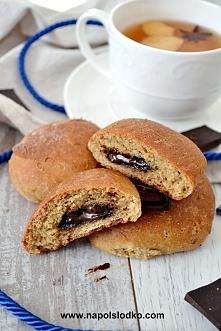 Wyśmienite bułeczki orkiszowe, mocno czekoladowe, bez cukru!
