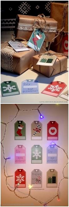 Etykietki na prezenty mikoł...