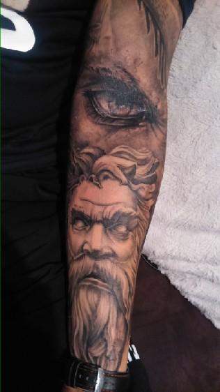 Tatuaż Rekaw Motyw Anioły I Demony Na Tatuaże Zszywkapl