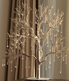 złote drzewko ze szklanymi ...