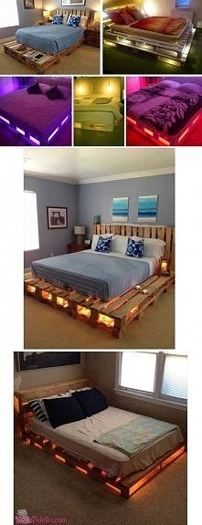 Łóżko z palet...Romantyczna SYPIALNIA♥♥♥ Nie masz duzo kasy to idealne rozwią...