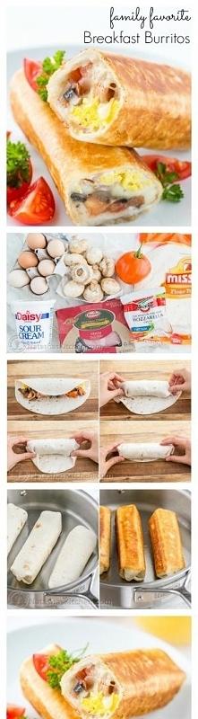 Śniadaniowe burritos...Pysz...