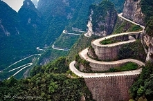 Szczyt Tianmen mountain. Chiny