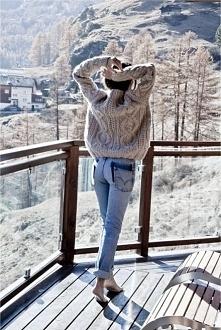Zima, biel, sweterek