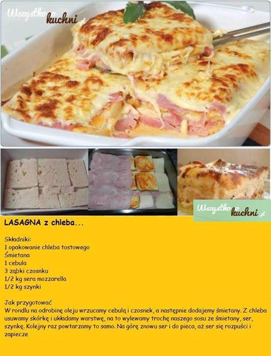 lasagne z chleba