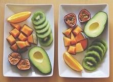 Idealna przekąska dla fit pary :) 1. Pomarańcz 2. Mango 3. Granat 4. Avocado 5. Kiwi