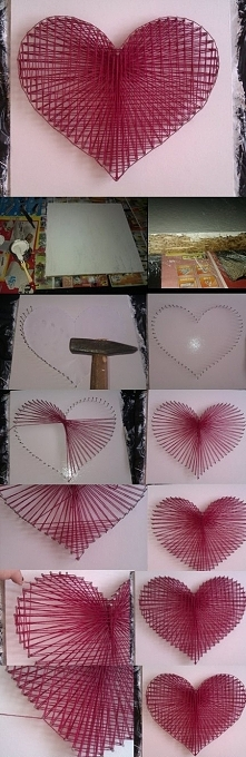 Deseczkę (rozmiar 40x40) pomaluj na swój wybrany kolor farbką do drewna. Następnie poczekaj, aż wyschnie farba. W międzyczasie możesz na kartce namalować wzór serca lub jakikolw...