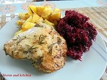 Pyszny obiad - rozmarynowy kurczak.