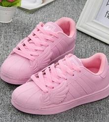 Różowe adidas superstar