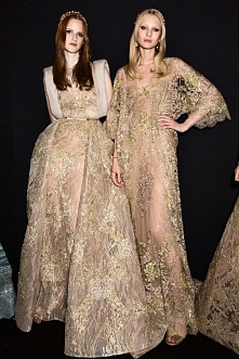 Backstage at Elie Saab Fall 2015, Haute Couture.