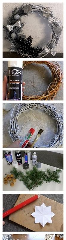DIY wianek Bożonarodzeniowy blondeinspires.com