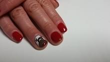 #renifer#paznokcie#święta#czerwone#manicure#StopoSfera
