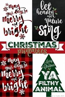 Darmowe grafiki do wydrukowania na święta Bożego Narodzenia.