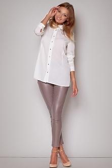 MEGA PROMOCJE na Świąteczne stylizacje - zobacz w sklepie Olive.pl Koszula Nena - do wyboru kolor ecru, niebieski i beżowy