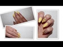 Paznokcie żółto złote - Lakiery hybrydowe