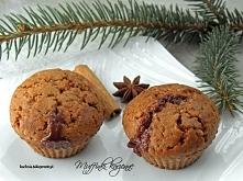 Muffinki korzenne z czekoladą